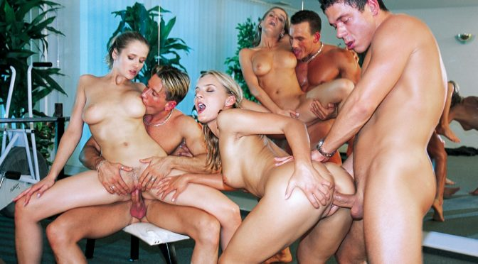 Barbara Summer in  Private Orgy at the Gym January 21, 2013  Cumshot, Blowjob