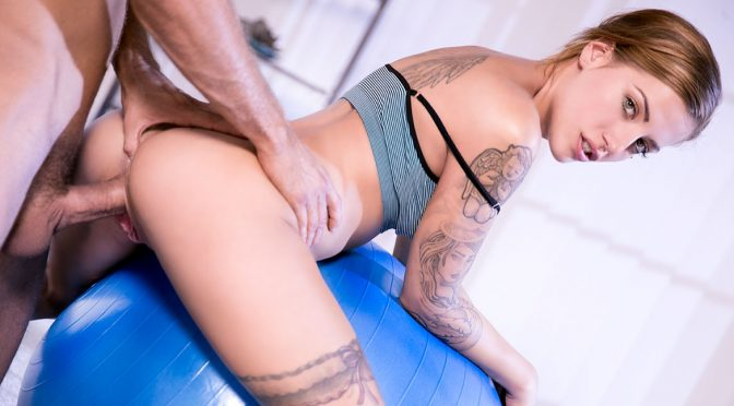 Silvia Dellai in  Private From Yoga to Anal With the Flexible Silvia Dellai December 02, 2016  Shaved Pussy, Small Tits