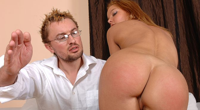 Valentina Blue in  Houseoftaboo Spanking for the fun of it! December 10, 2008  Hungarian, Trimmed Pussy