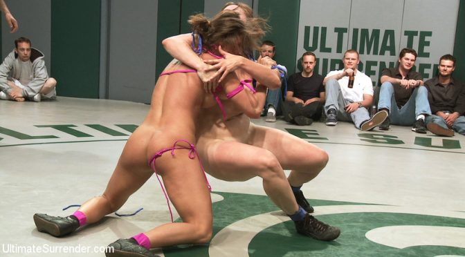 Bryn Blayne in  Ultimatesurrender RD 1/4 of May's Live Tag Team Match: Totally non-scripted lesbian wrestling! May 29, 2012  Vaginal Penetration, Small Tits