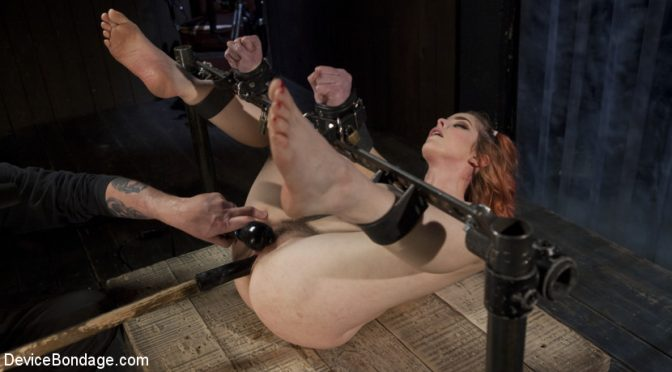 Amarna Miller in  Devicebondage Used and Left Behind March 23, 2017  Flogging, Corporal Punishment