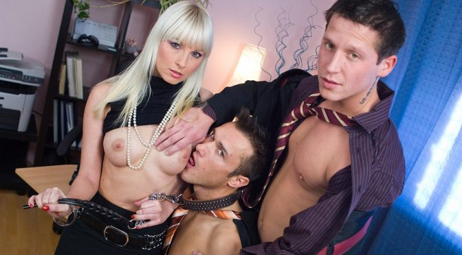 Lena Cova in  Private MMF Threesome with Lena Cova Giving Blow Job While Getting Licked April 14, 2010  FemDom, BDSM