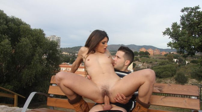 Alberto Blanco in  Chicasloca Naughty outdoor fuck and cum in mouth for Spanish babe Julia Roca May 30, 2018  Doggy Style, Facial