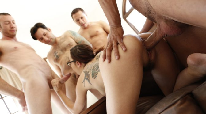 John Strong in  Newsensations Roxanne Rae – 4 Men And A Lady – A Gang Bang August 13, 2014  Gang Bang, Natural Tits
