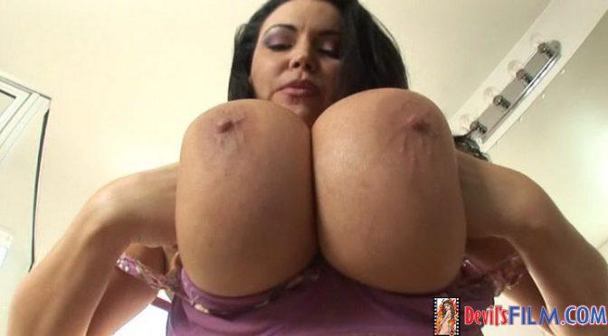 Angelica Sin in  Devilsfilm Big Titty MILFS #04, Scene #03 November 13, 2007  Deepthroat, Big Tits