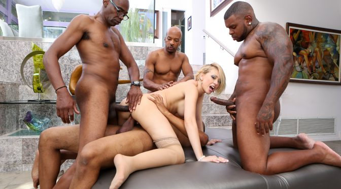 Kagney Lynn Karter in  Devilsfilm Blacked Out, Scene #02 October 22, 2014  Interracial, Double Penetration