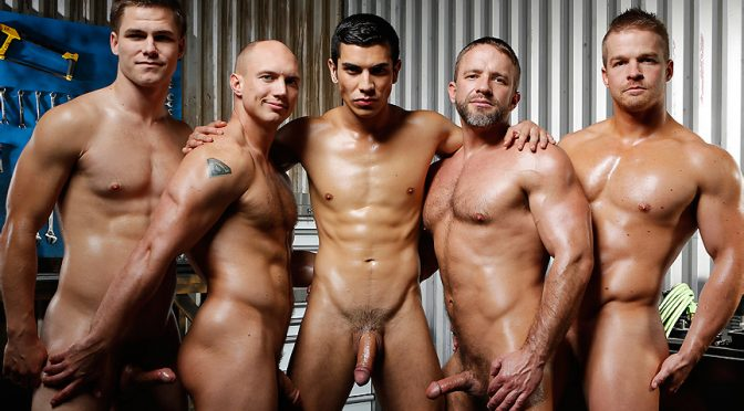 Dirk Caber in  Jizzorgy The Shop April 19, 2013  Gay Porn