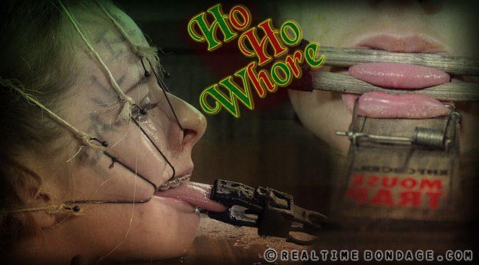 Jessica Kay in  Realtimebondage Ho, Ho, Whore Part 2 January 02, 2016  Metal Gag, Tongue Leash