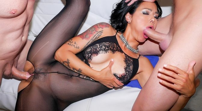 Dana Vespoli in  Cherrypimps Cum And DP Me July 19, 2016  Tattoos, Anal