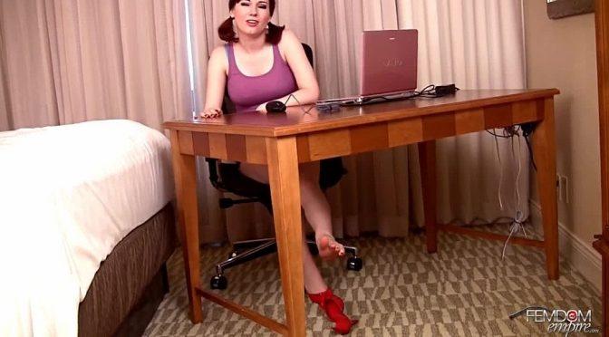 Angela Ryan in  Femdomempire Secretary Toes July 11, 2012  Femdom POV