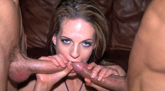 Ben English in  Newsensations Crissy Cums – Double Teamed #6 June 12, 2007  Facial, Brunette