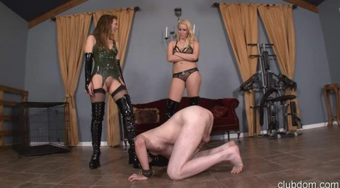 Callie Calypso in  Clubdom Pool Boy Turned Bitch-Part 2 Cum On Our Boots December 14, 2013  Boot Worship