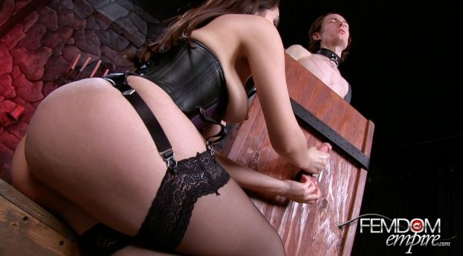 Valentina Nappi in  Femdomempire Edged to Ruin June 13, 2014  Bondage, Brunette