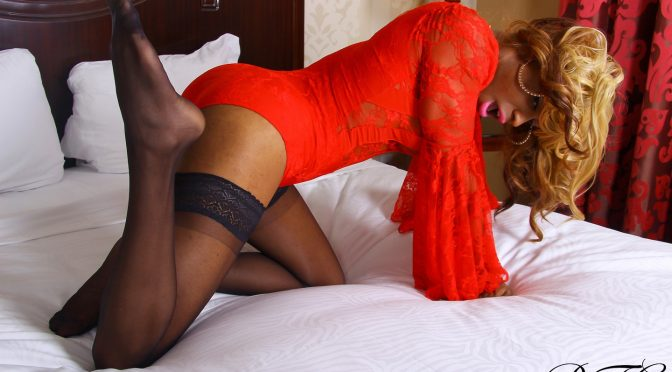 Baby Doll in  Blacktgirls Lady In Red Miss Doll October 13, 2015  Transsexual