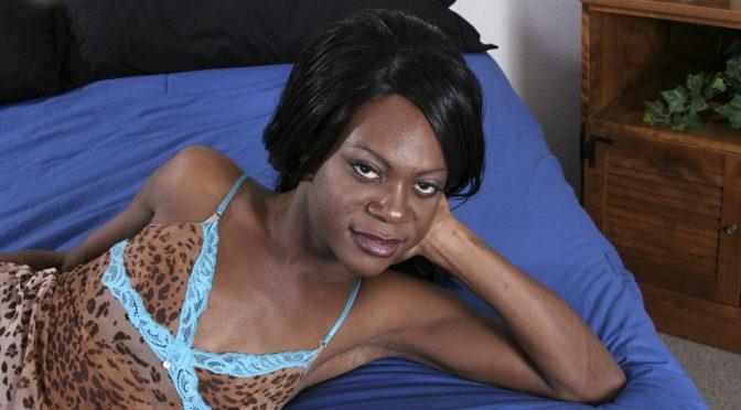 Jessica in  Blacktgirls Slim Cutie Jessica Cums! February 19, 2008  Transsexual