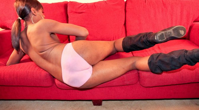 Serenity in  Blacktgirls Serenity Cums For You! October 18, 2011  Transsexual