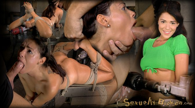 Ava Dalush in  Sexuallybroken English rose Ava Dalush bound down on fucking machine, brutal drooling deepthroat multiple orgasms! August 08, 2014  Bondage, BDSM
