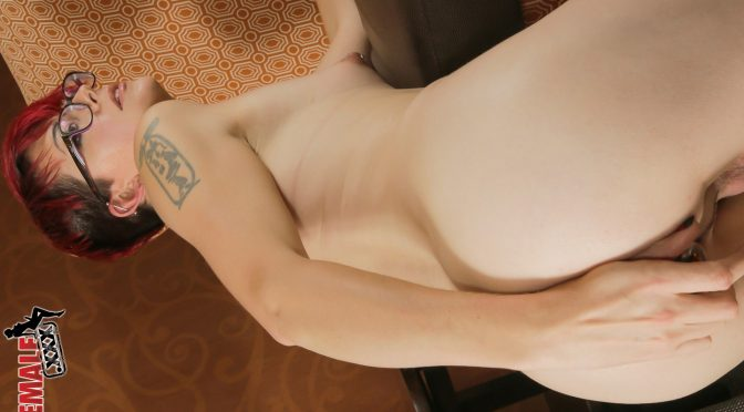 Evie Eliot in  Tgirlsxxx Evie Eliot Loves her Buttplug October 30, 2014  Transsexual
