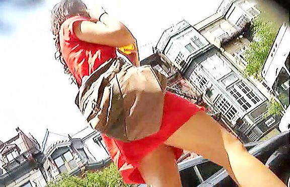 Upskirtcollection Sexy lady in red upskirt clip July 26, 2011  Upskirt