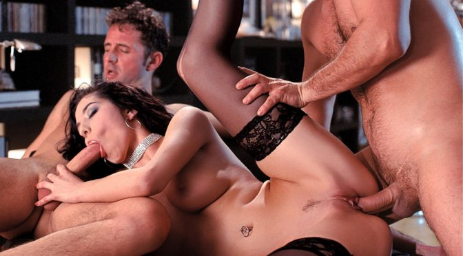 Lara Stevens in  Private Lara Sucks and Fucks Two Men Who Double Penetrate Her Sexy Body August 15, 2014  Cumshot, Facials
