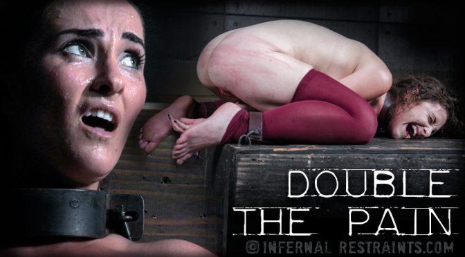 Mary Jane Shelley in  Infernalrestraints Double the Pain September 04, 2015  Black Ball Gag, Electrical Tape Blindfold