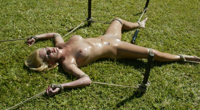 Jenni Lee in  Hogtied Cabo, the Return. Part 5 March 01, 2005  Corporal Punishment, Handler