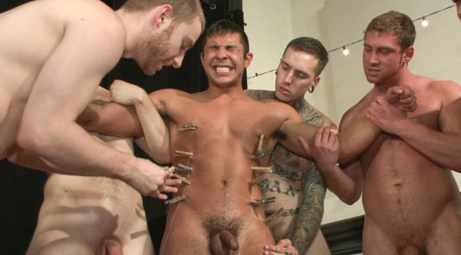 Seth Santoro in  Boundinpublic THERE'S NO MERCY IN FUCKING! May 23, 2014  Blindfold, Male Sub