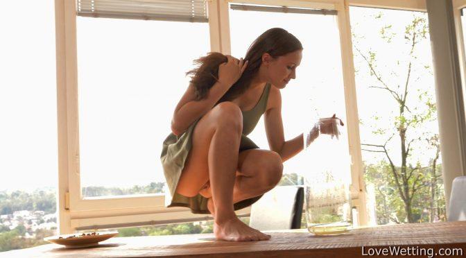Stacy Cruz in  Lovewetting Stacy Cruz – Pissing scene September 22, 2018  Pissing
