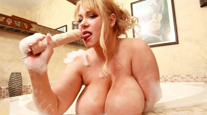Samantha 38G in  Plumperpass Shower, Suds, and Sex May 08, 2011  Blonde, High Heels