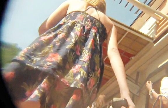 Upskirtcollection Amateur in flowered dress candid upskirt November 03, 2013  Candid Upskirt