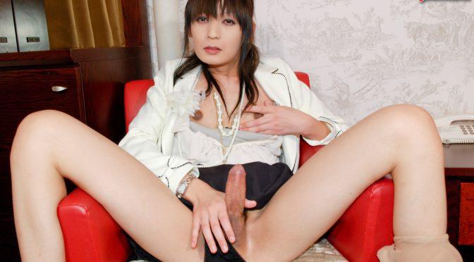 Yuki Mizuno in  Tgirljapan Horny Yuki Mizuno Strokes! June 21, 2017  Transsexual