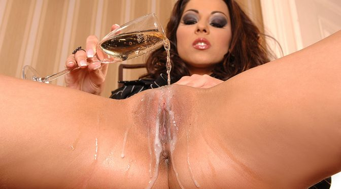 Cindy Hope Aka Klaudia in  1by-day Mega Pornstar Pours Some Bubbly and Stuffs Her Snatch January 17, 2014  Brunette Hair, Slim