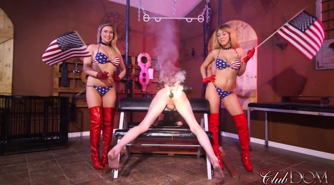 Kelly Paige in  Clubdom Mickey & Kelly Happy 4th StrapOn Pegging July 01, 2016  Strapon