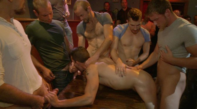 Isaac Hardy in  Boundinpublic Gangbang and cum for a stuck up go-go boy August 23, 2013  Male Sub, Blowjob