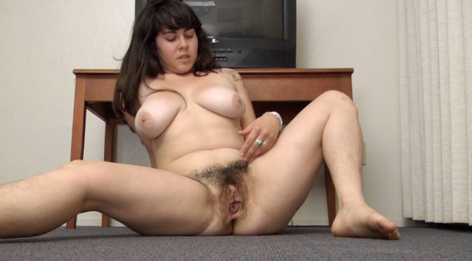 Cleo in  Wearehairy Cleo stretches before playing with her hairy pussy February 13, 2012  Hairy Legs, Masturbation
