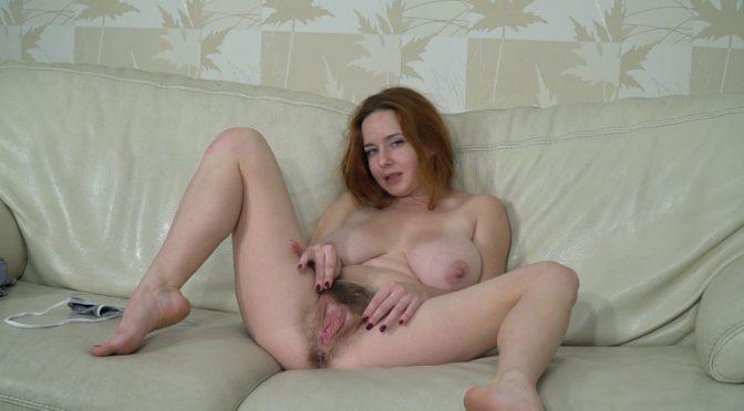 Elouisa in  Wearehairy Elouisa masturbates and is a sexy stewardess December 19, 2017  Masturbation, Lingerie