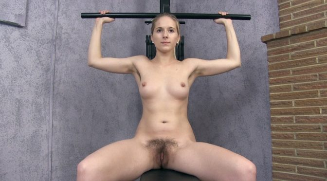 Naomi in  Wearehairy Naomi gives a sexy naked workout today September 04, 2018  Blondes, Lingerie