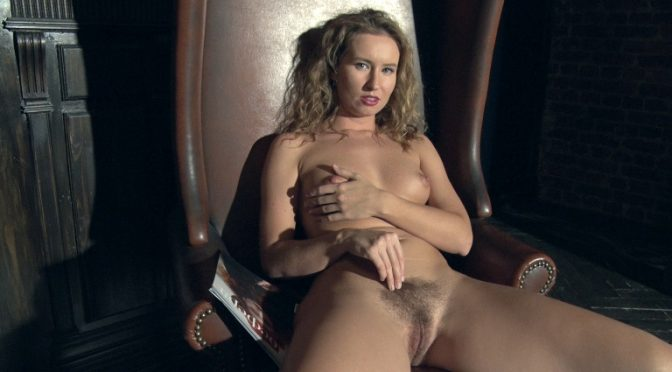 Nikky B in  Wearehairy Nikky B strips naked in her big leather chair January 23, 2019  Hairy Arms, Lingerie
