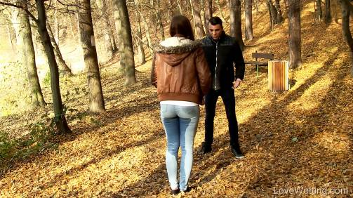 Morgan in  Lovewetting Morgan – Ruined date November 04, 2015  Wetting, Jeans