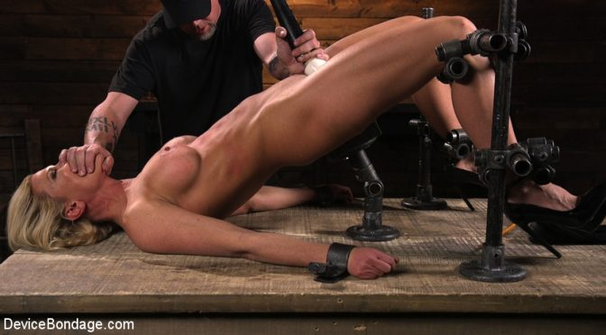 Ariel X in  Devicebondage Taking One For the Team June 01, 2017  Cattle Prod, Corporal Punishment