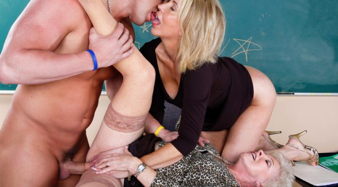 Mrs. Jewell in  Myfirstsexteacher Mrs. Jewell & Erica Lauren & Christian February 17, 2009  Blow Job, Hairy Pussy