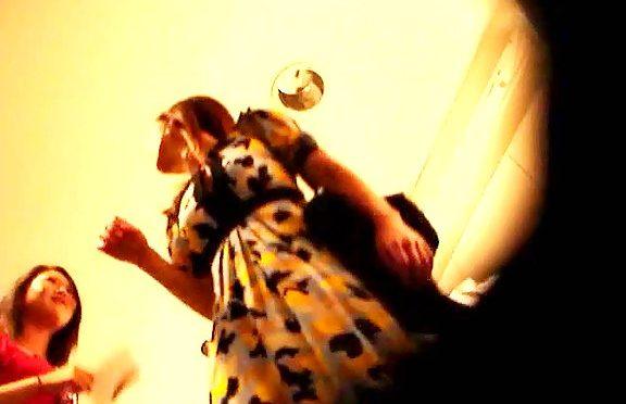 Upskirtcollection Upskirt ass up a trendy colored dress April 18, 2011  Upskirt