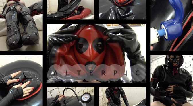 Anna Rose in  Alterpic.com Maxi Inflate May 20, 2019  Fetish, Latex Mask