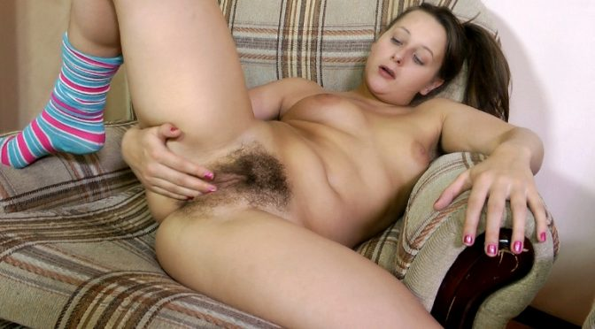 Vera in  Wearehairy Vera bares her hairy pussy in a recliner March 10, 2013  Puffy Nipples, Tattoo