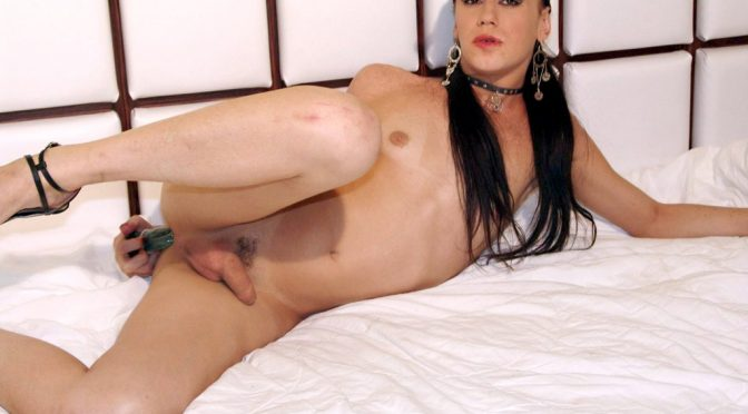 Bruna Dagly in  Brazilian-transsexuals Bruna Dagly Plays With Her Dildo! February 20, 2006  Transsexual