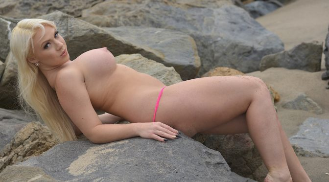 Katerina Kay in  Pornstarplatinum Katerina Kay in Public Beach Masturbation June 19, 2015  Photos, Solo