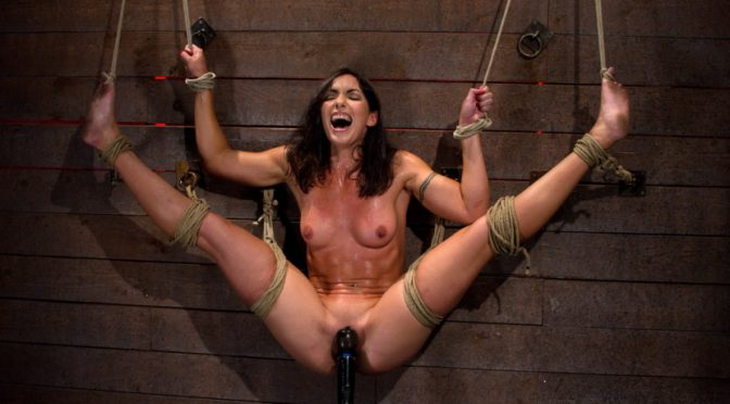 Wenona in  Hogtied Gymnast, fitness model has her flexibility put to the test.Made to cum until she is a sweaty pig December 23, 2010  The Wall, Nipple Torture