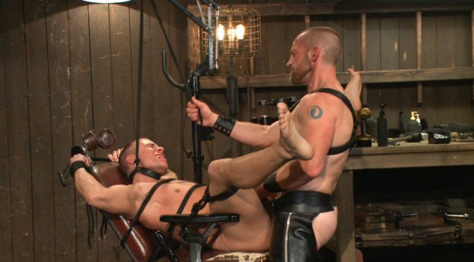 Adam Herst in  Boundgods Helpless stud's torturous ordeal at the hands of a twisted pervert April 03, 2014  Zapper, Anal