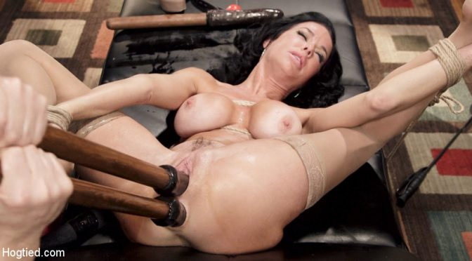 Veronica Avluv in  Hogtied Nympho Anal MILF Double Penetration Squirt Fest December 25, 2014  Vaginal Penetration, MILF