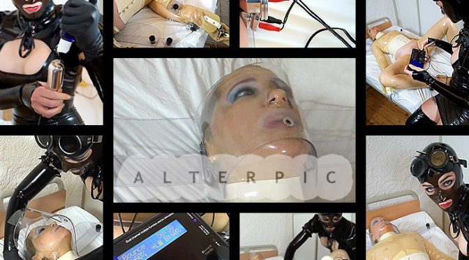 Anna Rose in  Alterpic.com Double Electrostim Penetration – 2 of 2 May 20, 2019  Latex Mask, Fetish